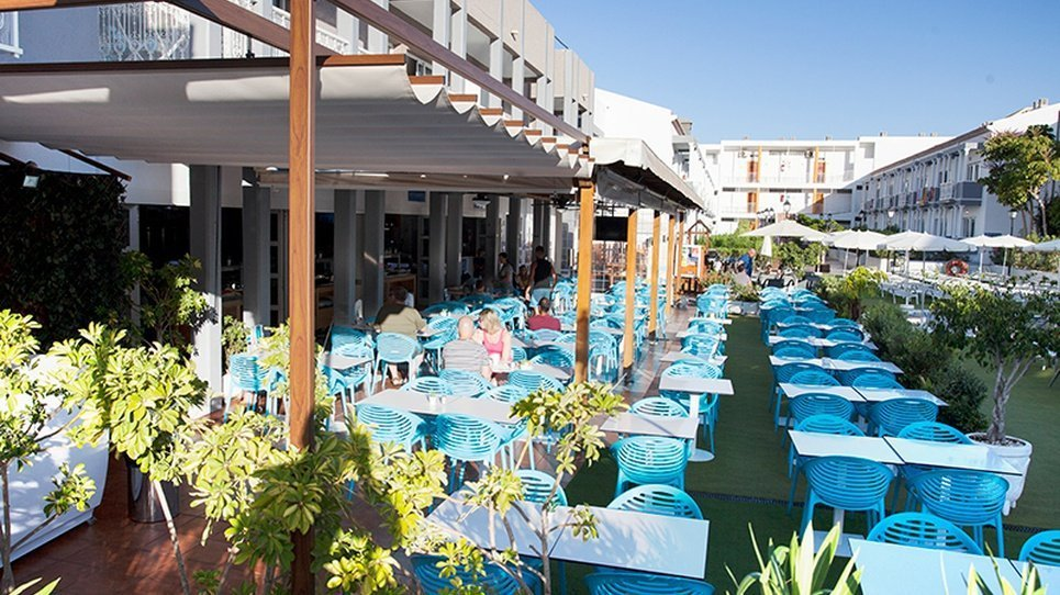 Open air terrace Coral Compostela Beach Golf Hotel